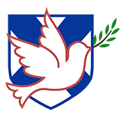 Dove with olive branch on the St. Andrew's shield