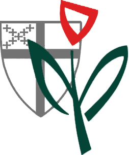 Episcopal Health Ministry Logo - Shield with flower